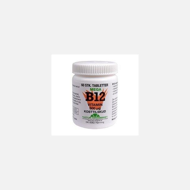 Mega B12 vitamin, 60 tabletter