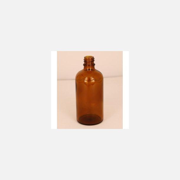 Bottle in brown glass, 100 ml