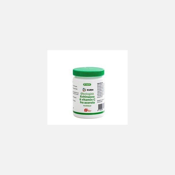 Echinacea og vitamin C fra acerola, øko., 60 kapsler