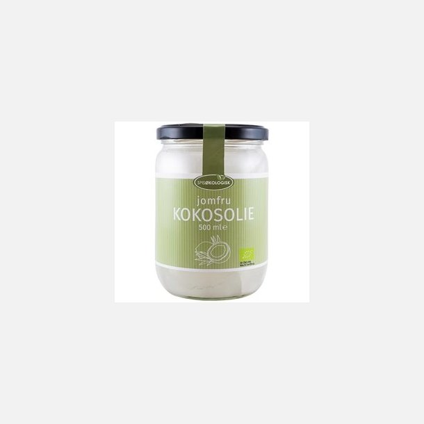 Kokosolie, koldpresset, øko., 500 ml