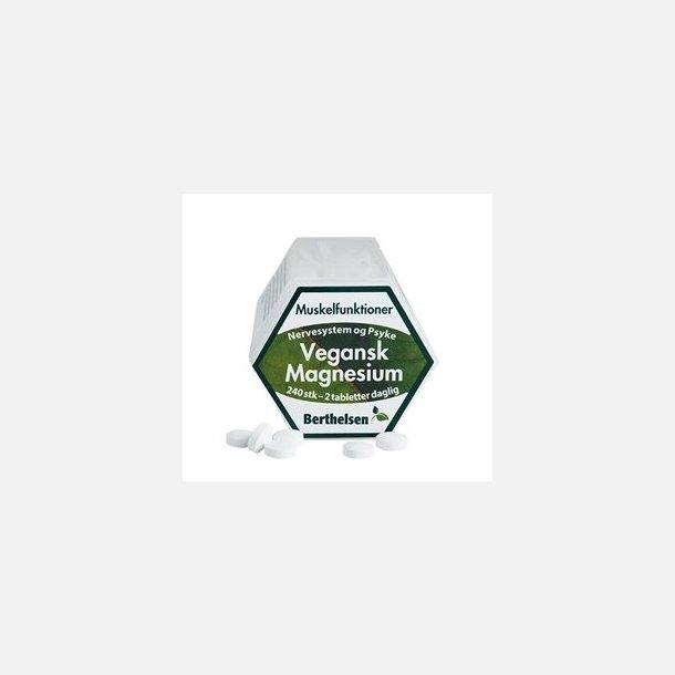 Vegansk Magnesium , Berthelsen, 240 tabletter